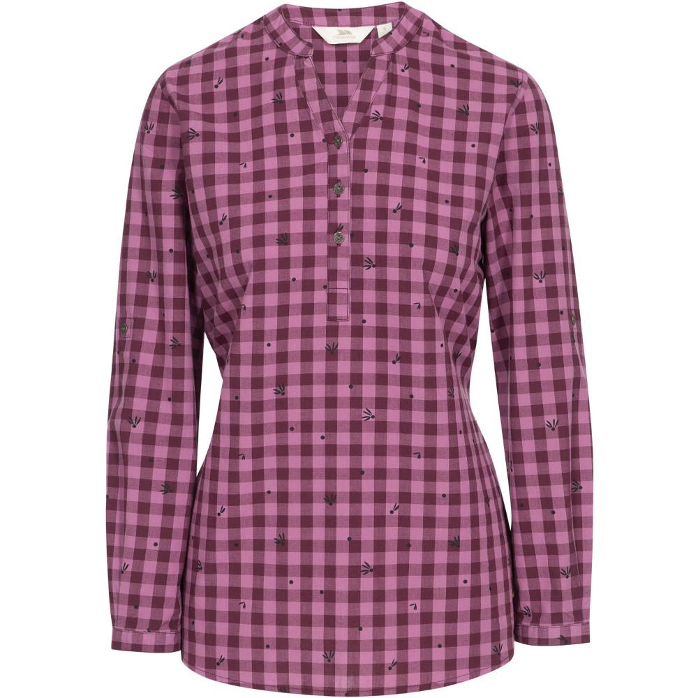 Trespass Womens Noreen Long Sleeve V Neck Blouse Top Xs- Uk 8- Bust 32  (81cm)