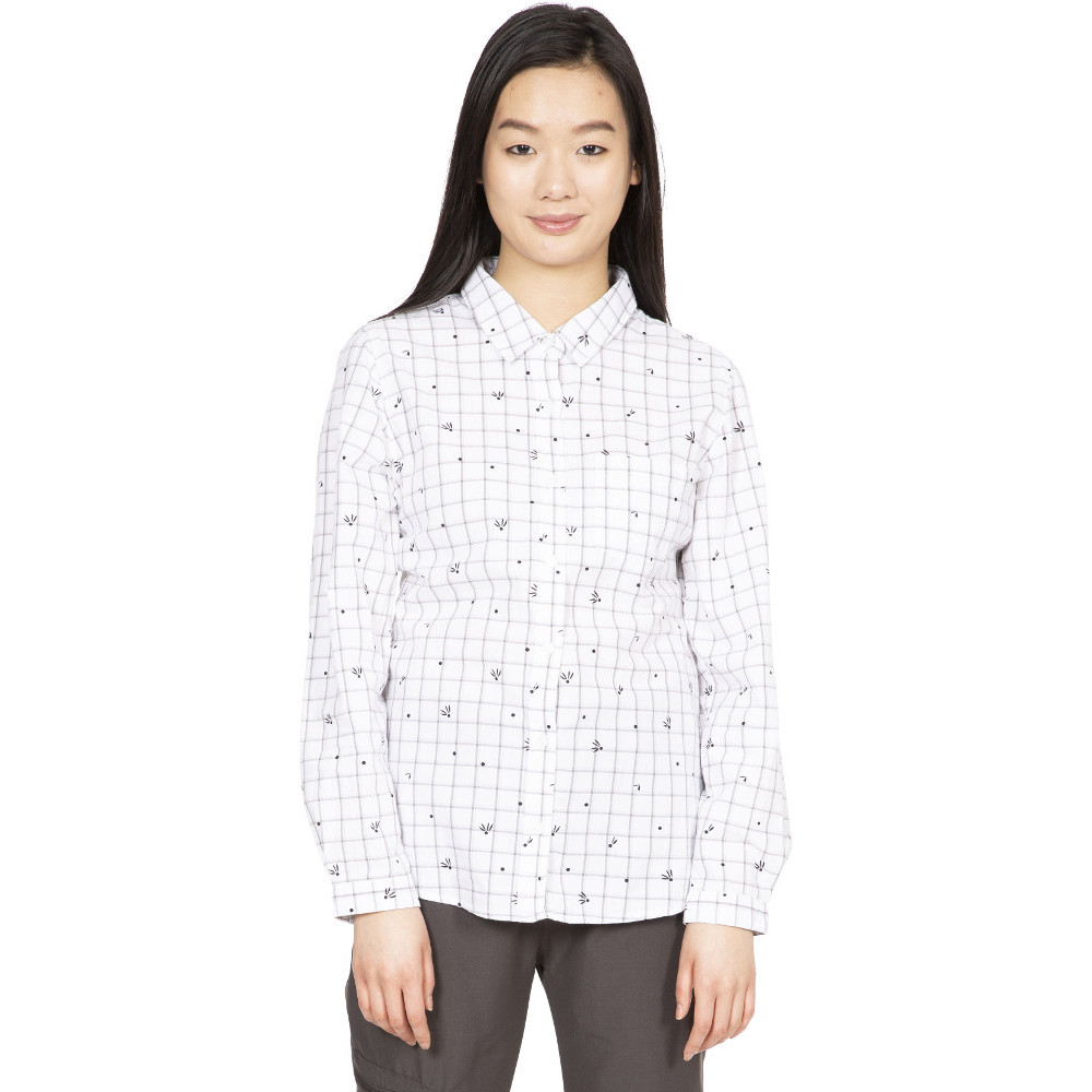 Trespass Womens Zova Button Down Long Sleeve Shirt M- Uk 12- Bust 36  (91.4cm)
