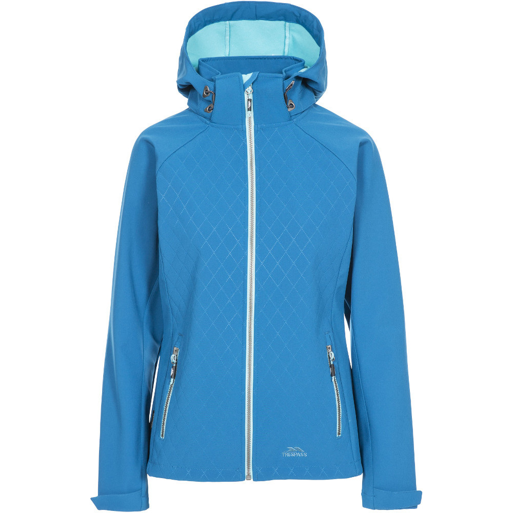 Trespass Womens Nelly Hooded Softshell Coat Jacket L- Uk 14- Bust 38  (96.5cm)