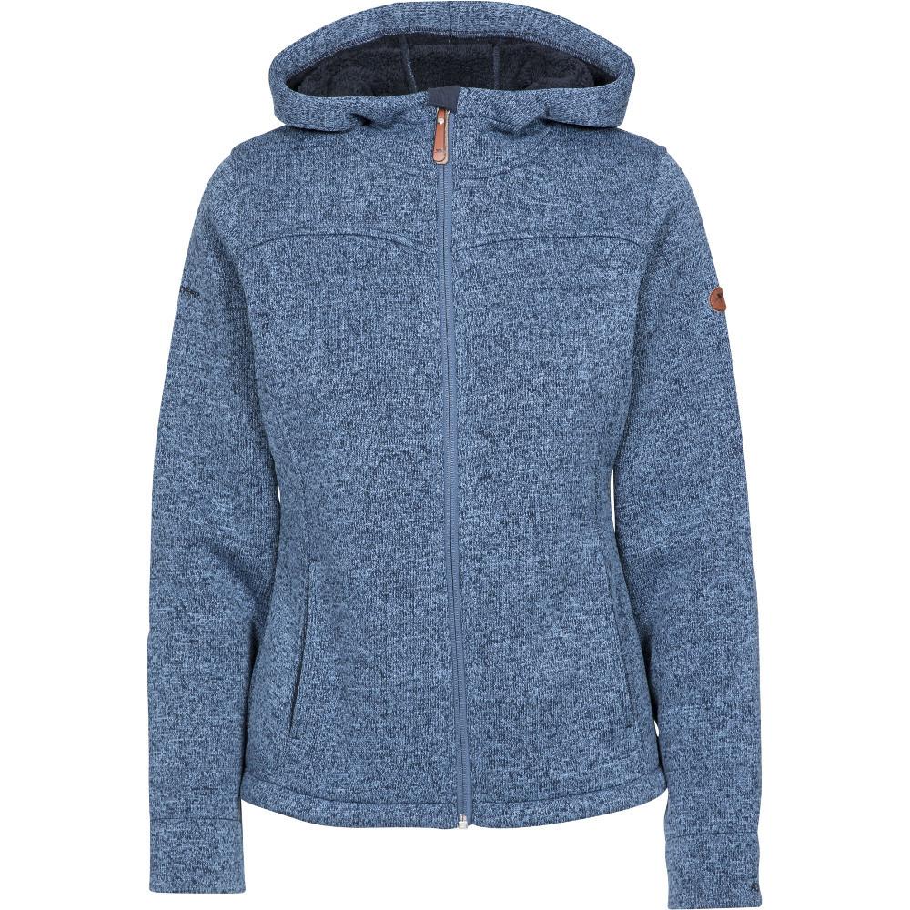Trespass Womens Teesta At400 Full Zip Hooded Fleece Jacket S- Uk 10- Bust 34  (86cm)