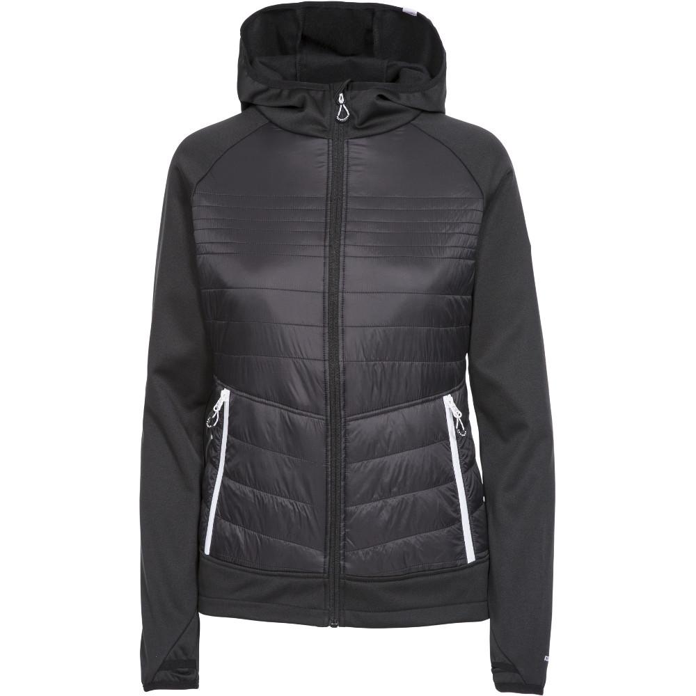 Trespass Womens Finito At200 Full Zip Hooded Fleece Jacket Xxl- Uk 18- Bust 42  (106.5cm)