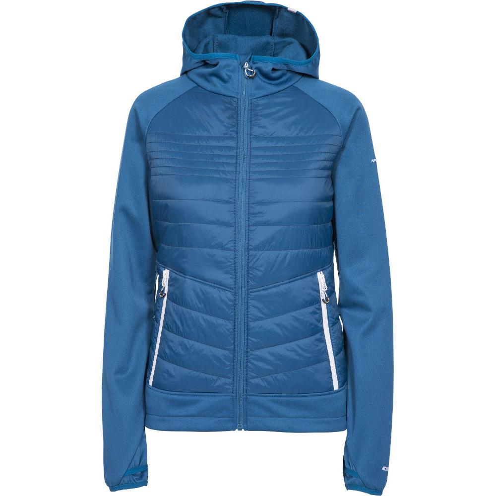 Trespass Womens Finito At200 Full Zip Hooded Fleece Jacket L- Uk 14- Bust 38  (96.5cm)