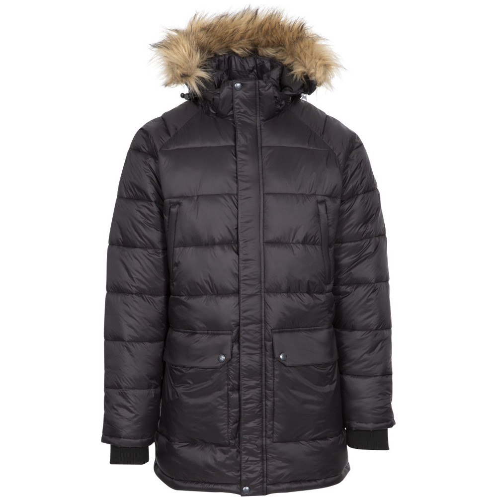 Trespass Mens Waldridgeton Padded Hooded Parka Coat Jacket L- Chest 41-43  (104-109cm)