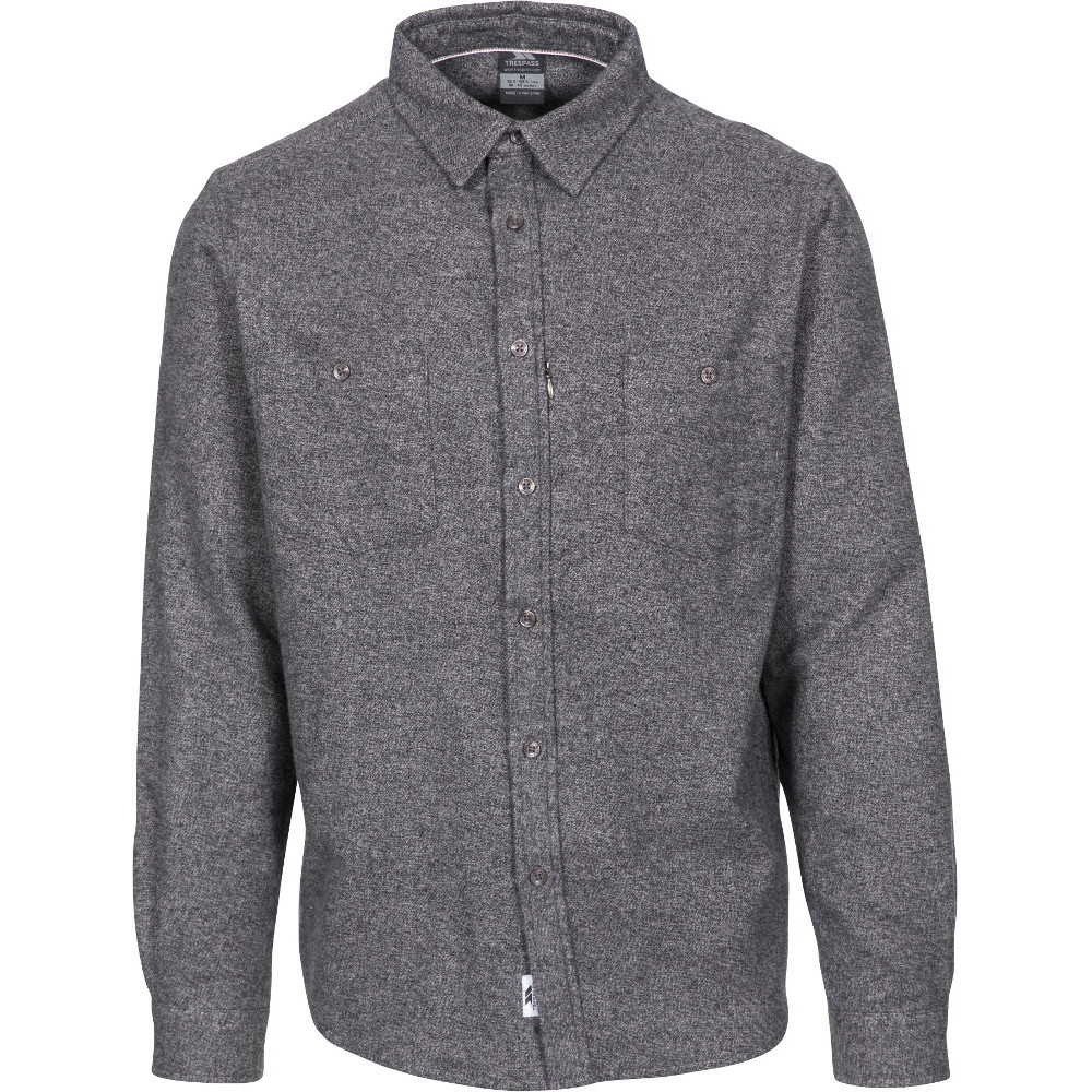 Trespass Mens Buddworthwas Brushed Marl Long Sleeve Shirt 3xl- Chest 48-50  (122-127cm)