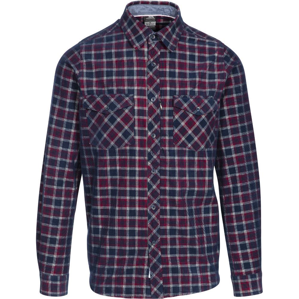 Trespass Mens Byworthtown Yarn Dyed Check Long Sleeve Shirt Xs- Chest 33-35  (84-89cm)