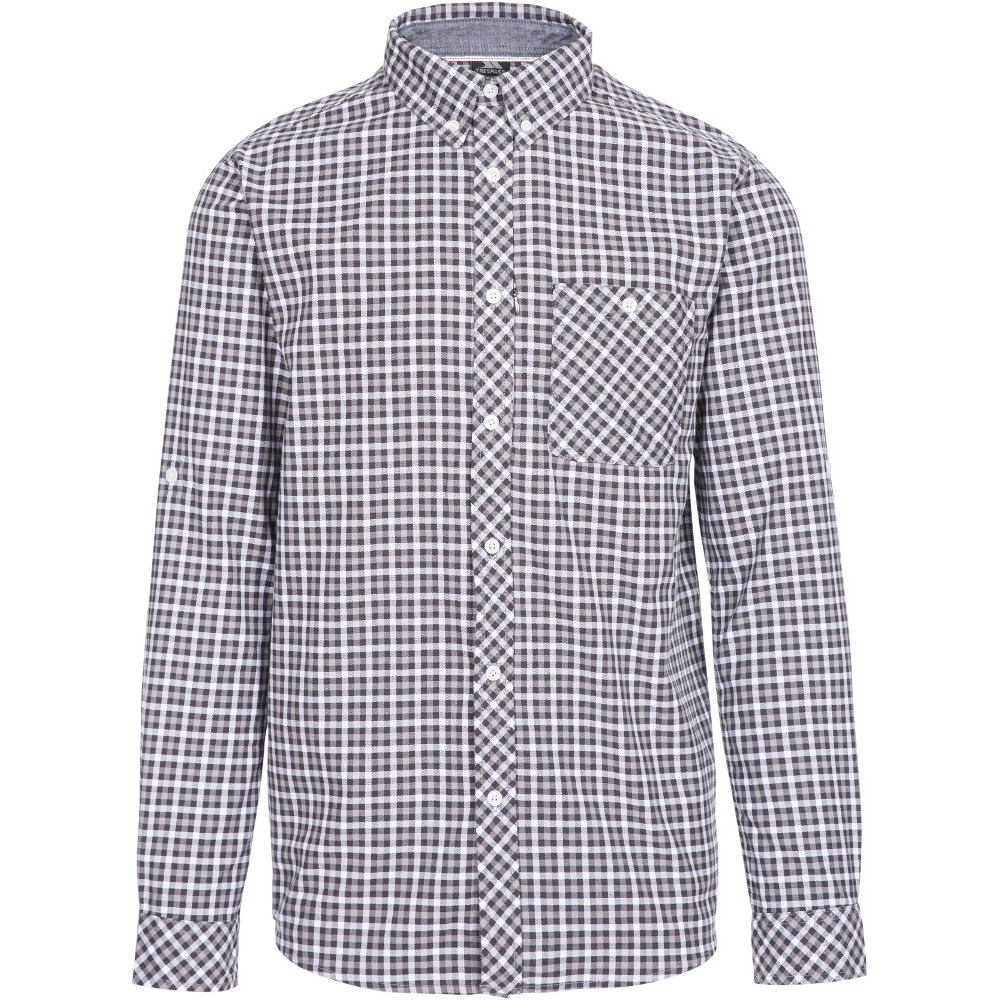 Trespass Mens Wroxtonley Yarn Dyed Check Long Sleeve Shirt L- Chest 41-43  (104-109cm)