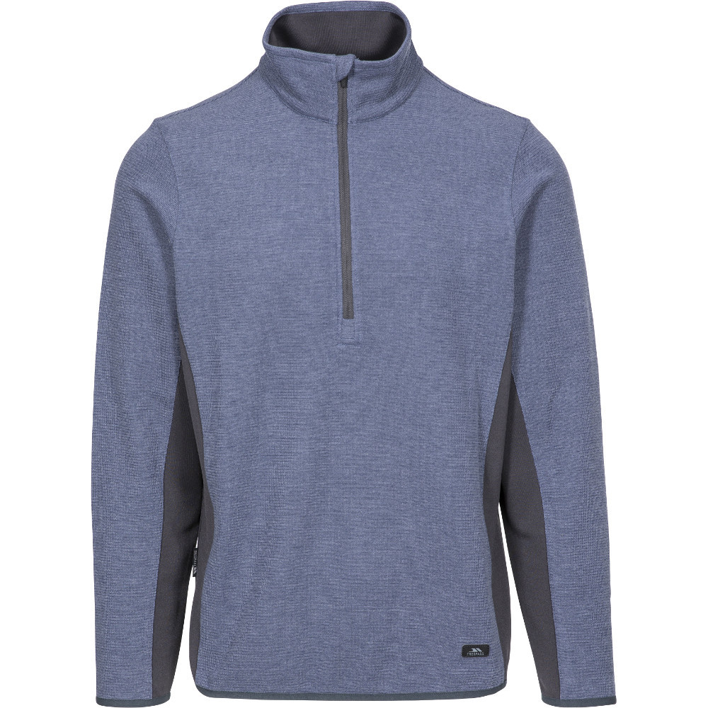 Trespass Mens Wotterham Knitted Half Zip Fleece Jacket 3xl- Chest 48-50  (122-127cm)
