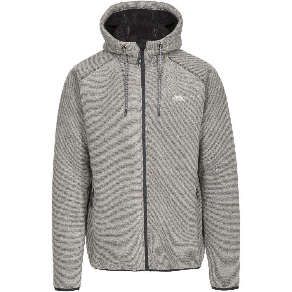 Trespass Mens Vetiver At500 Full Zip Hooded Fleece Jacket Xxl- Chest 46-48  (117-122cm)