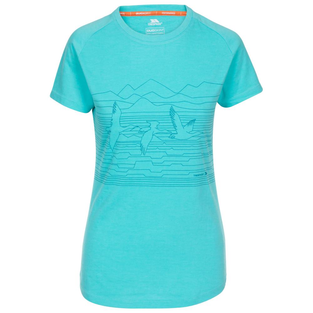 Trespass Womens Dunebug Round Neck Short Sleeve T Shirt 8/xs - Bust 32 (81cm)