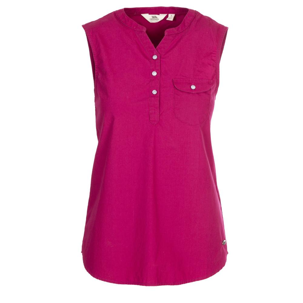 Trespass Womens Adora Sleeveless Blouse Shirt 10/s - Bust 34 (86cm)