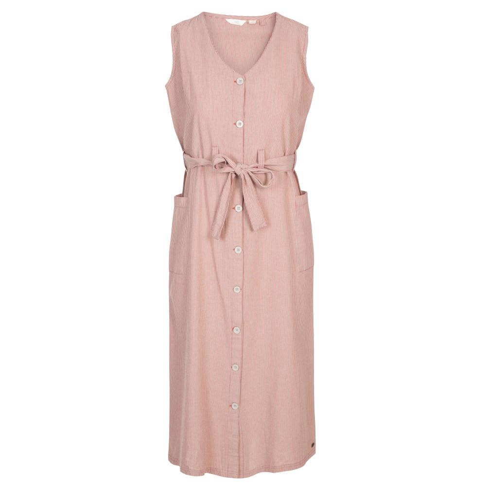 Trespass Womens Sally Button Through Summer Dress 6/xxs - Waist 23 (61cm)