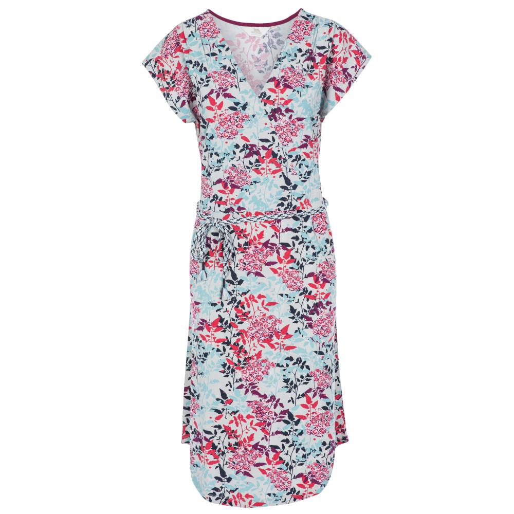 Trespass Womens Una V Neck Summer Dress 8/xs - Waist 25 (66cm)