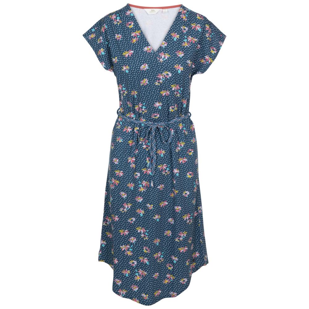 Trespass Womens Una V Neck Summer Dress 14/l - Waist 32 (81cm)