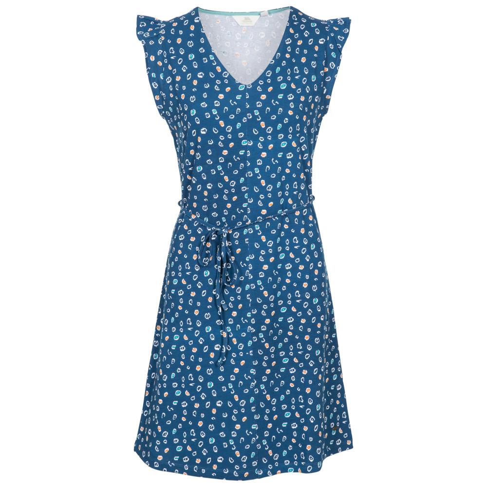 Trespass Womens Holly V Neck Summer Dress 14/l - Waist 32 (81cm)