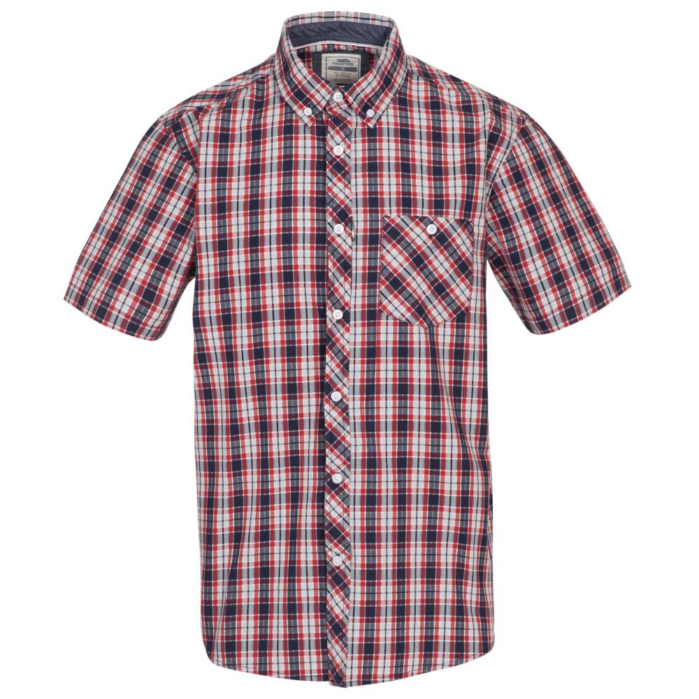 Trespass Mens Wackerton Short Sleeve Shirt S - Chest 35-37 (89-94cm)