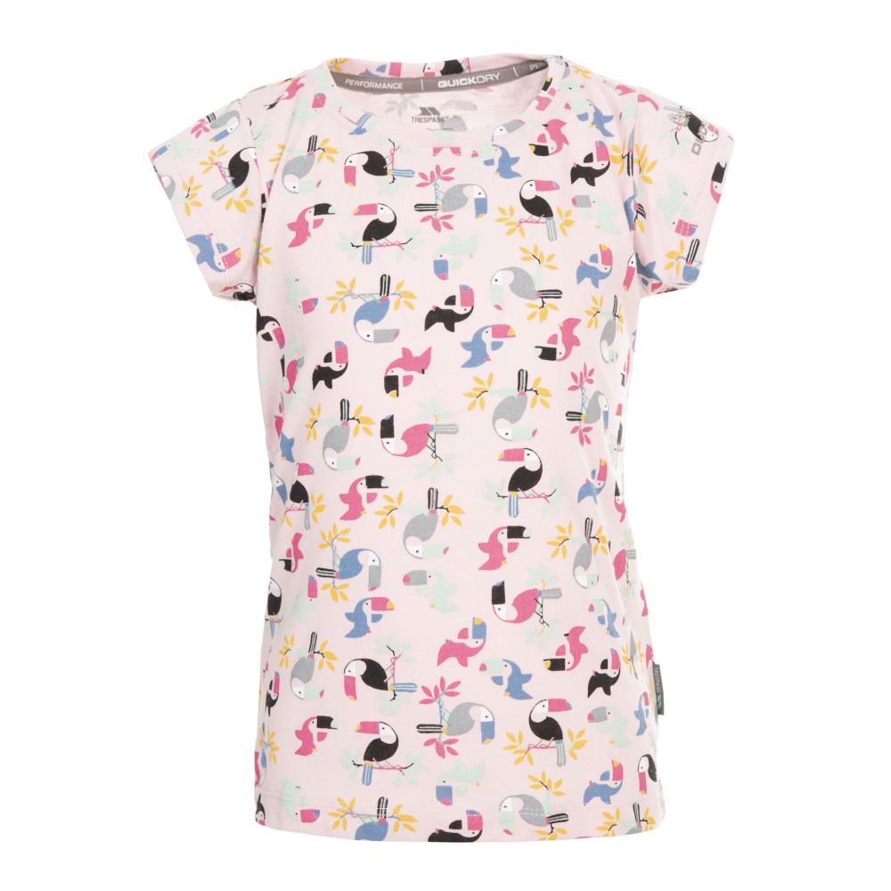 Trespass Girls Vivid Printed Round Neck Short Sleeve T Shirt 2-3 Years - Height 38  Chest 21 (53cm)