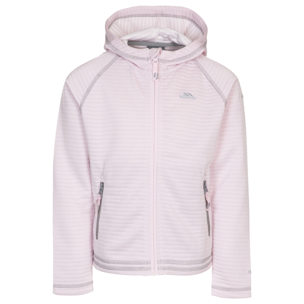 Trespass Girls Fascinated Full Zip Hooded Fleece Jacket 3-4 Years - Height 40  Chest 22 (56cm)