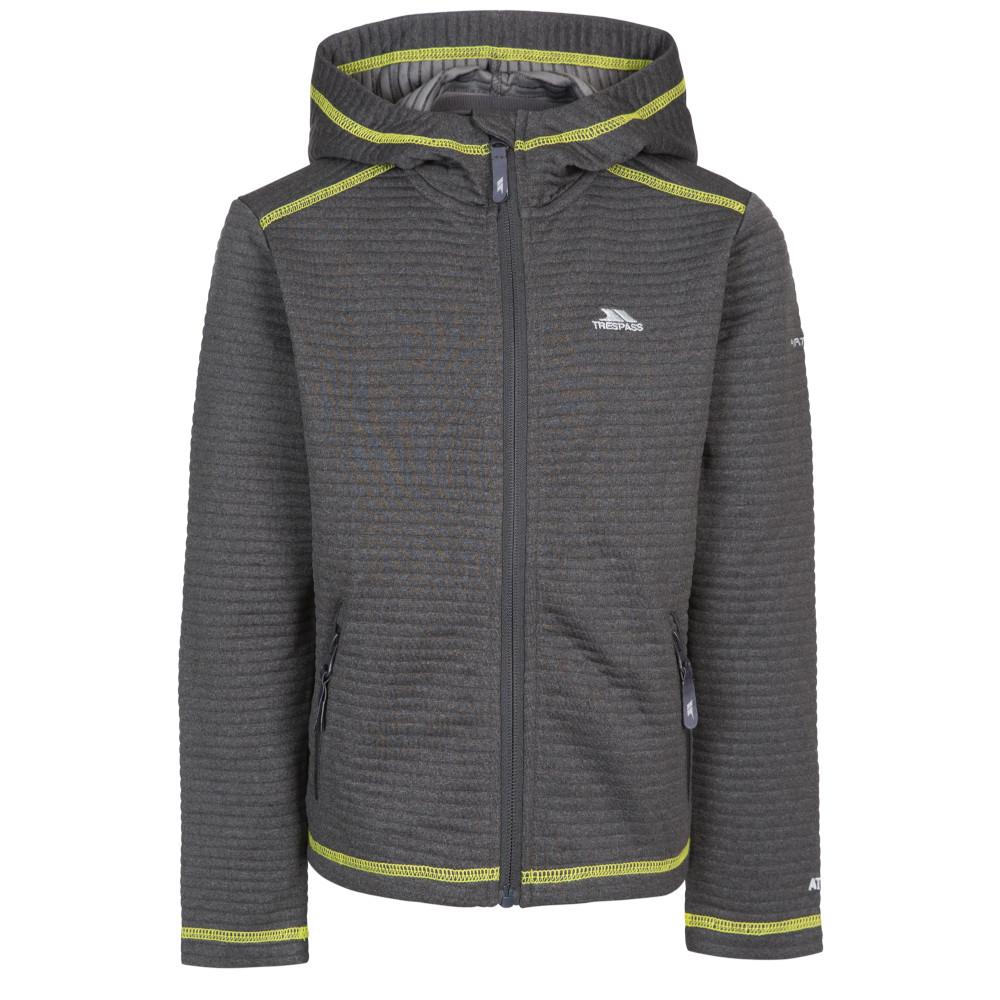 Trespass Boys Fortunate Full Zip Hooded Fleece Jacket 5-6 Years - Height 45  Chest 24 (61cm)