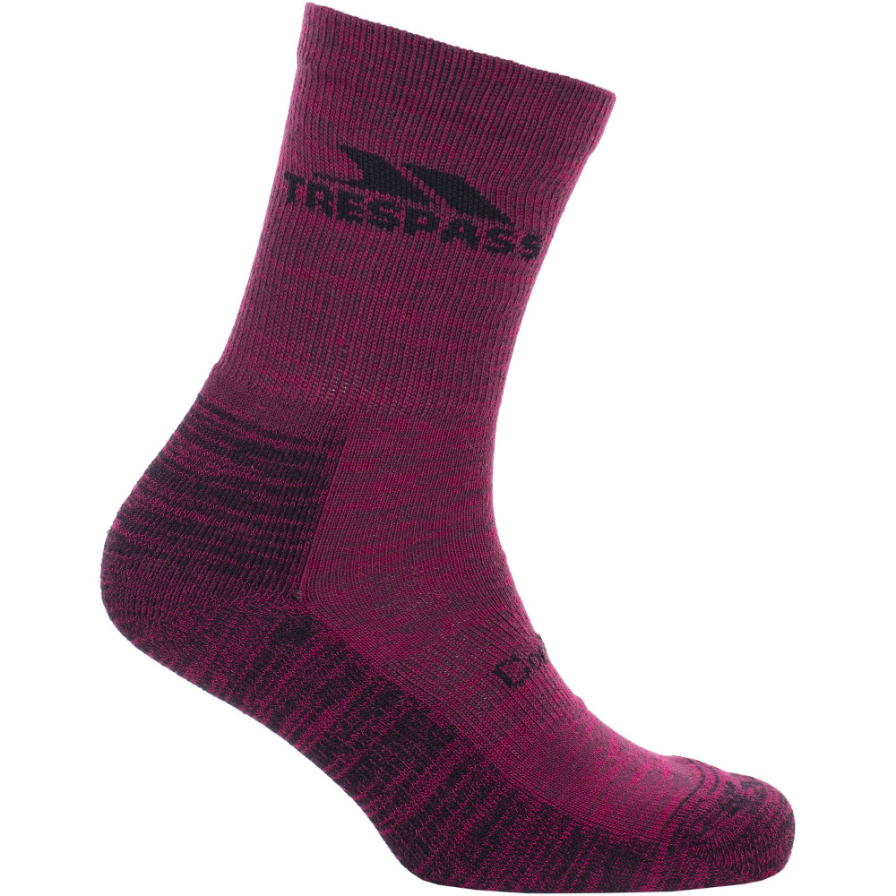 Trespass Womens Leader Yarn Lightweight Walking Socks Uk Size 6-9  (eu 39-42)