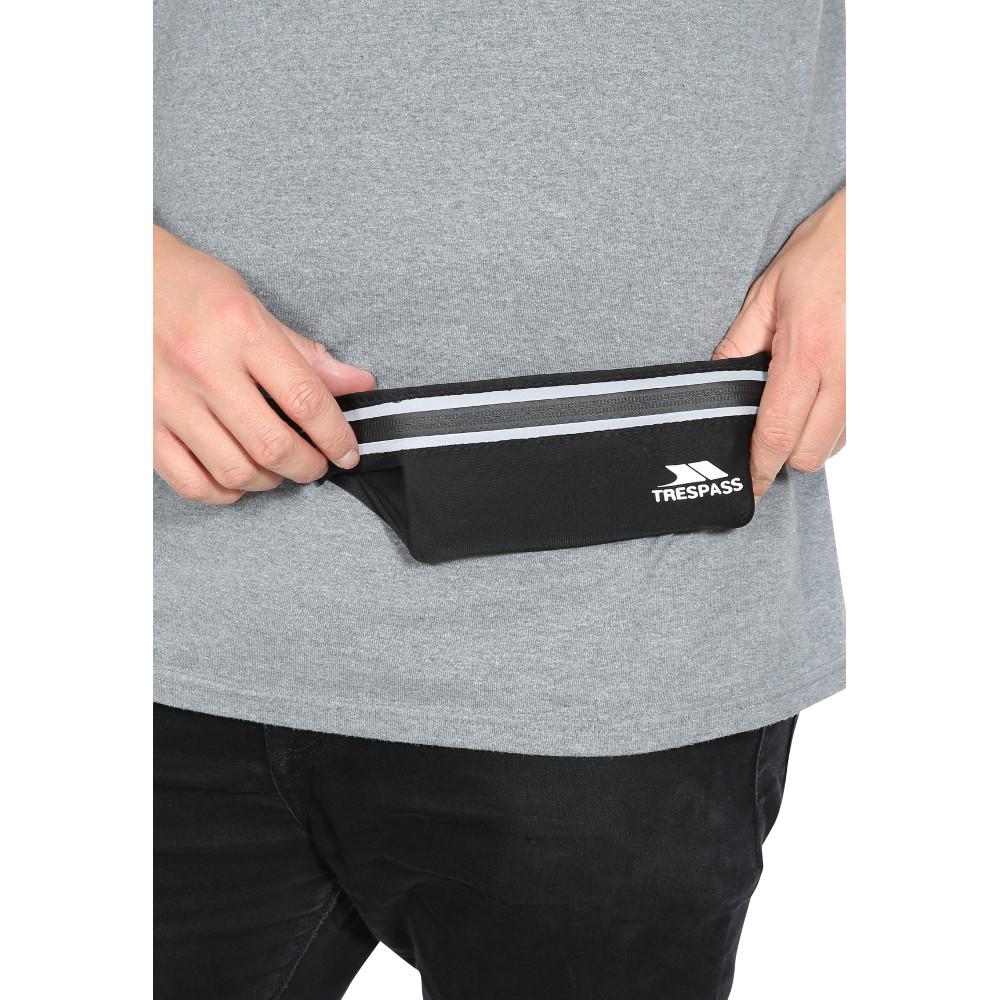 Trespass Dorne Adjustable Reflective Running Belt Waistpack One Size