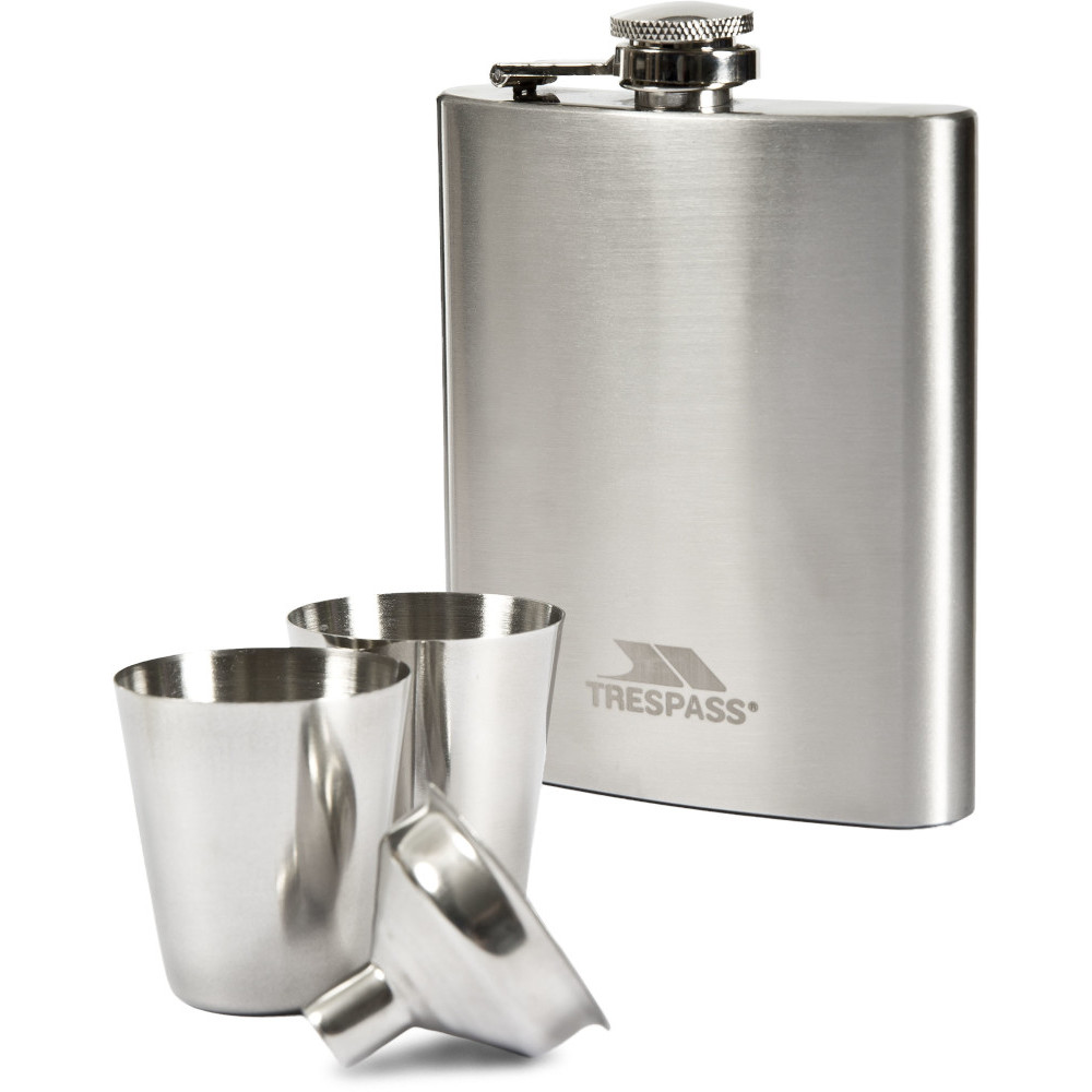 Trespass Dramcask Stainless Steel Hip Flask One Size
