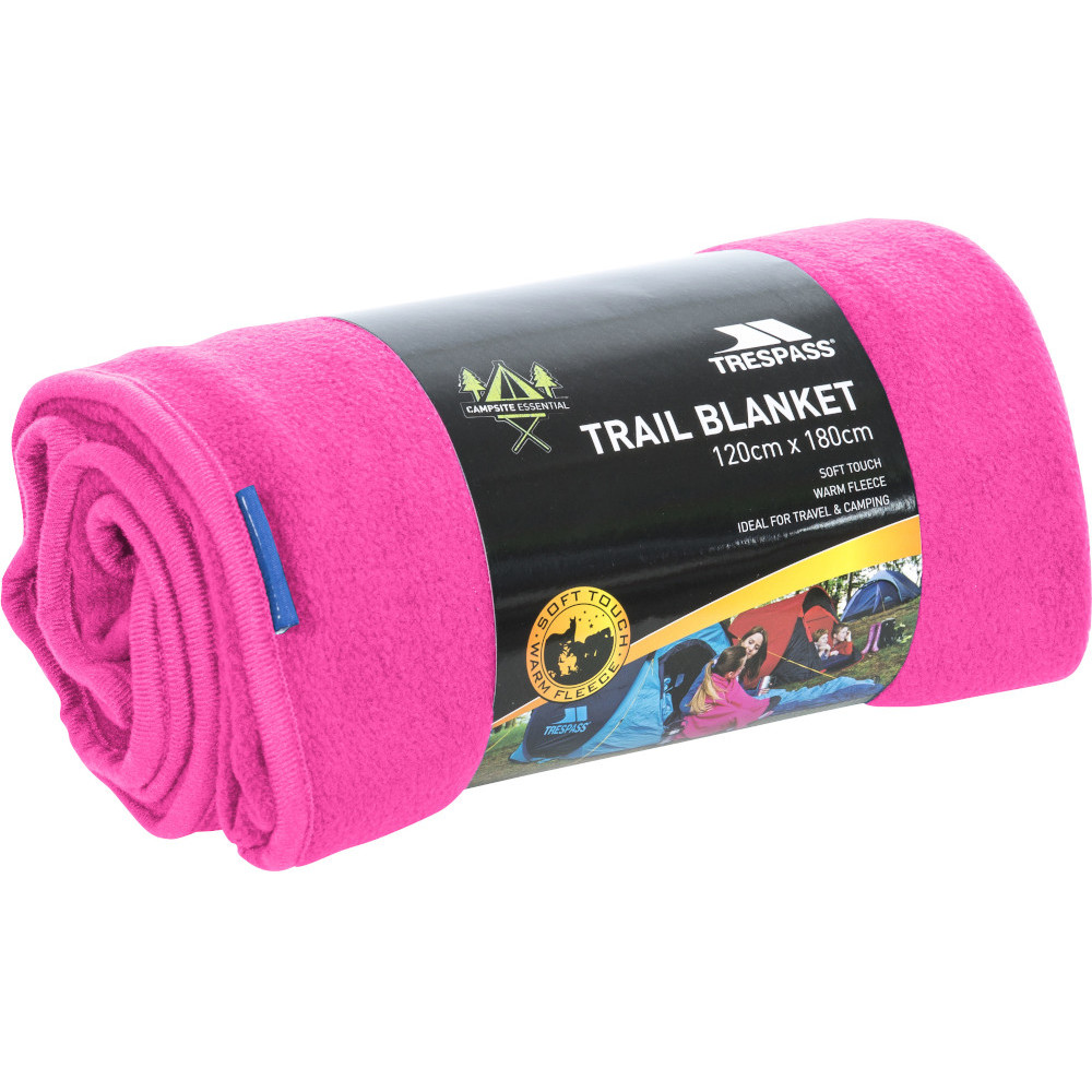 Trespass Snuggles 120 X 180cm Soft Touch Camping Blanket One Size