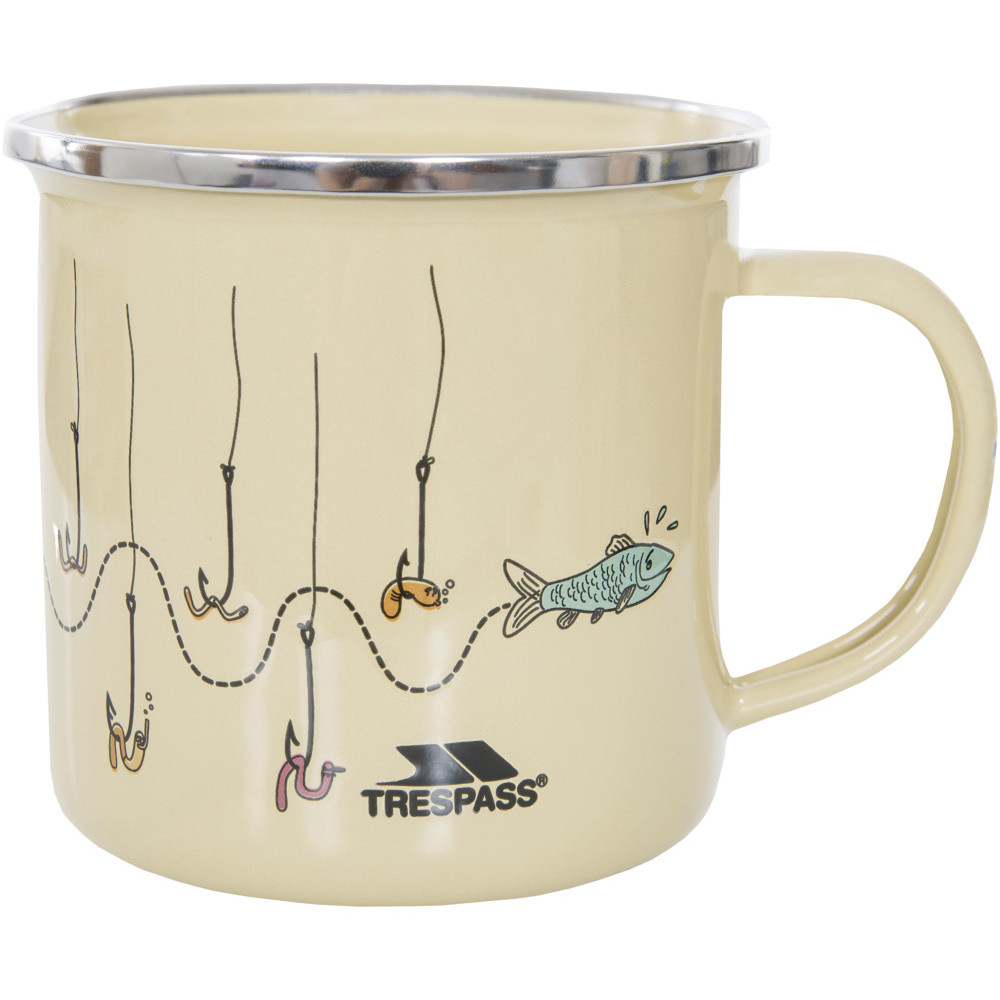 Trespass Elma Large Lightweight Enamel Camping Cup One Size