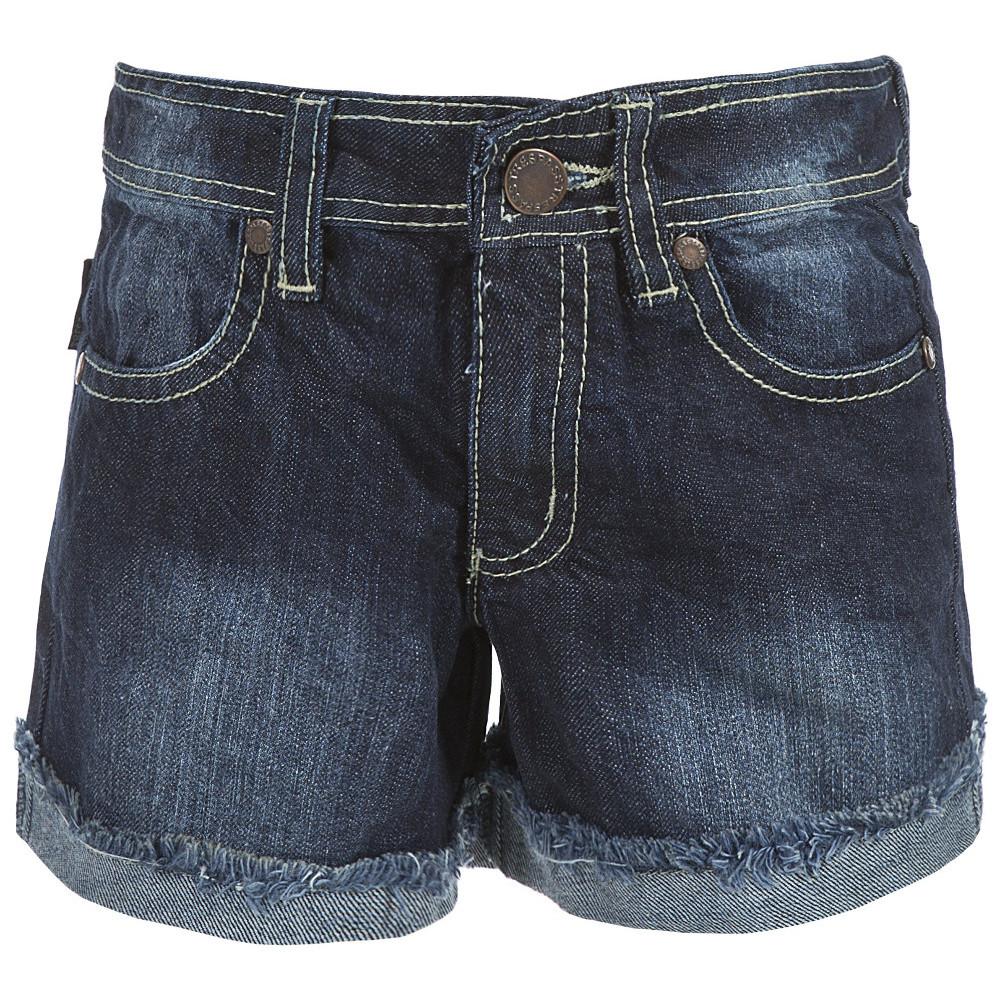 Product image of Trespass Girls Catherine Denim Frayed Folded Style Jean Shorts