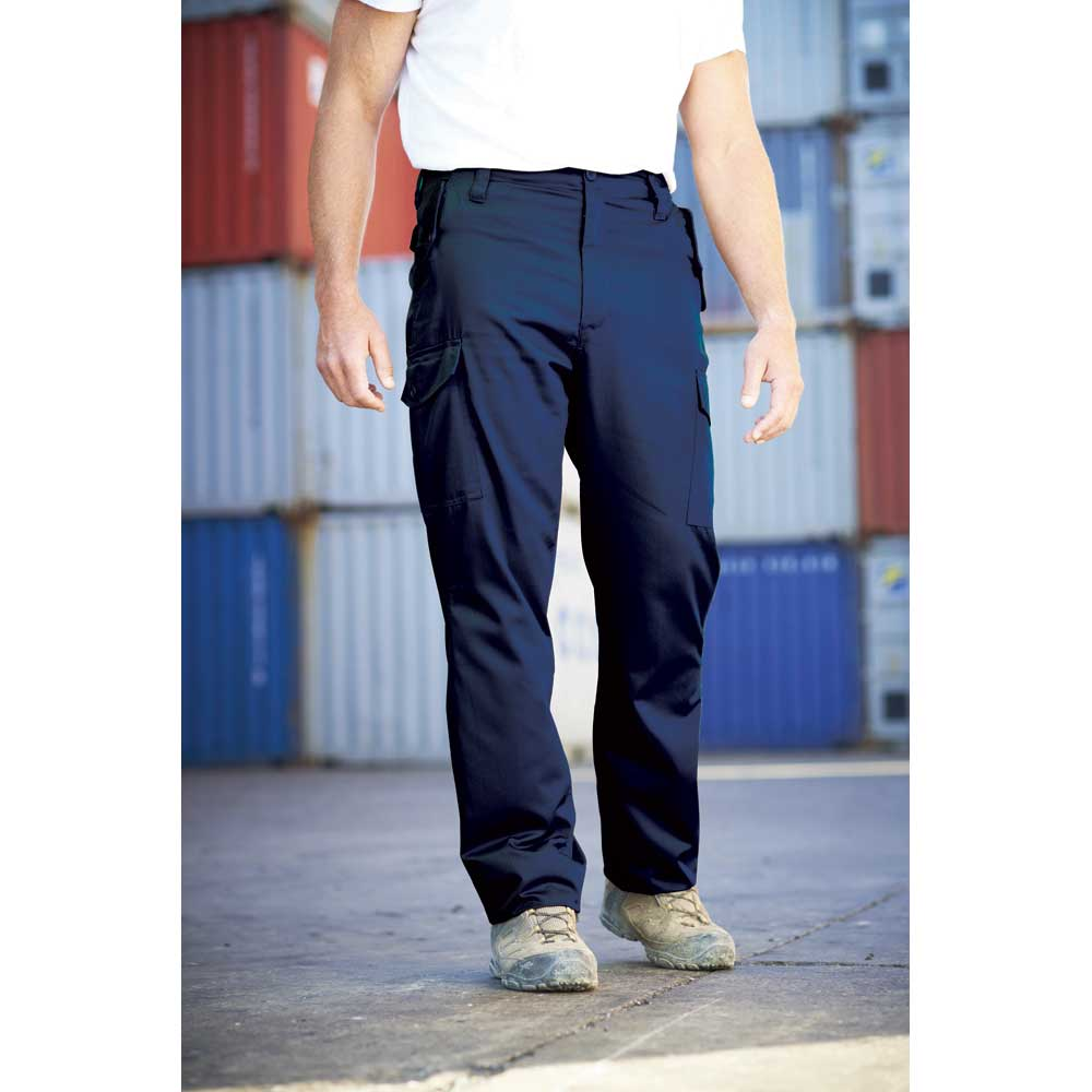 Product image of Regatta Mens Combat Cargo Walking Workwear Trousers TRJ314 Navy