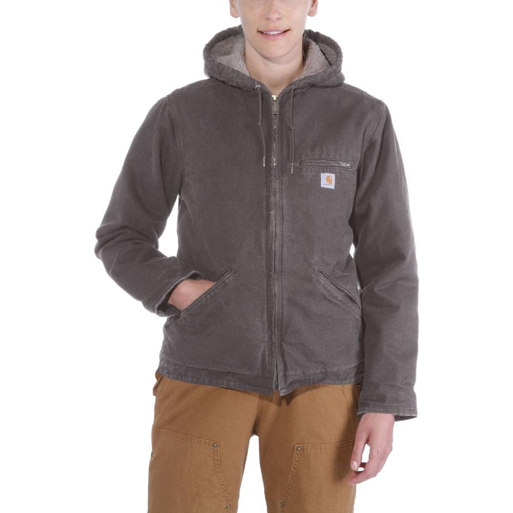 Carhartt Womens WJ141 Sandstone Insulated Hooded Jacket S -