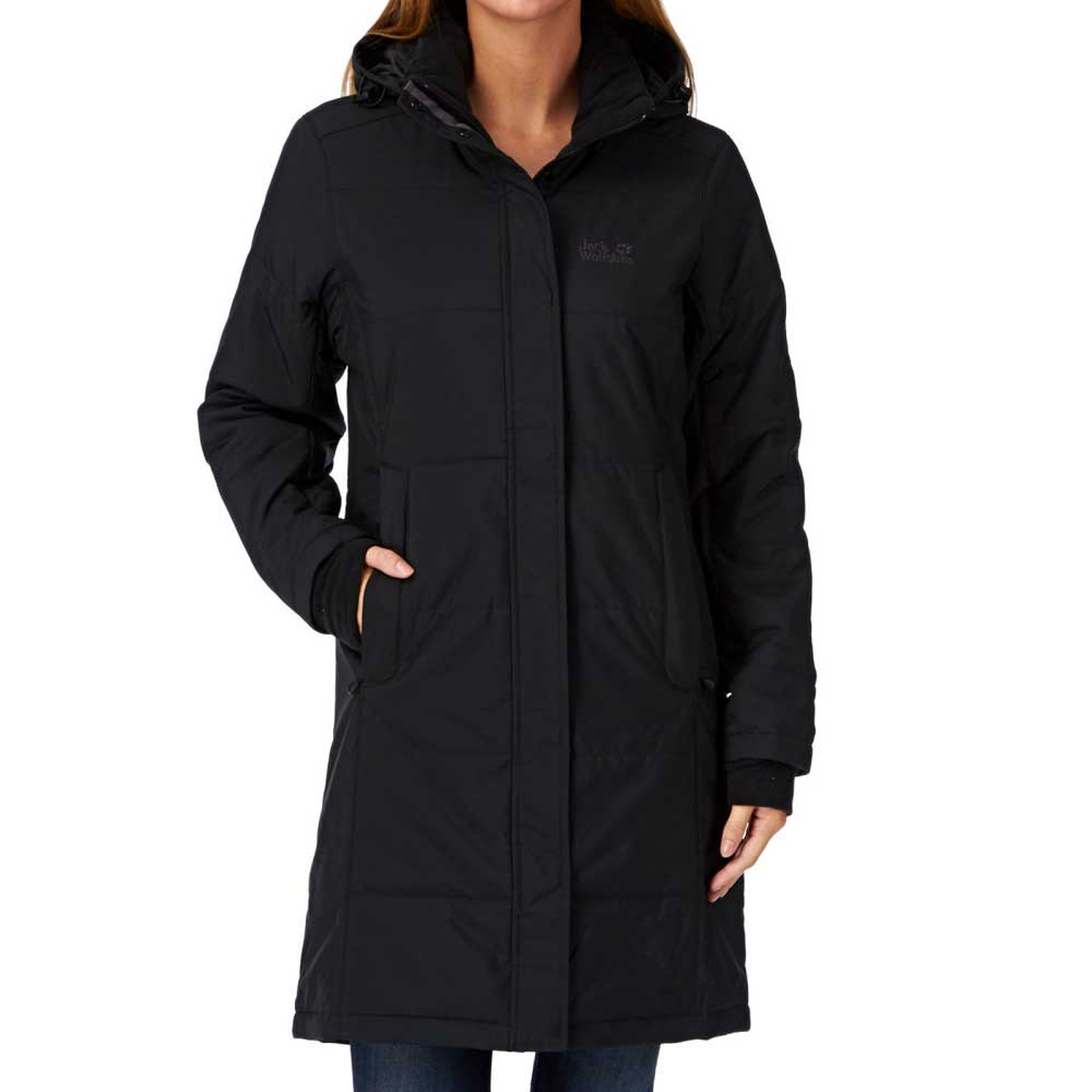 Jack Wolfskin Womens Iceguard Quilted Coat Jacket Black