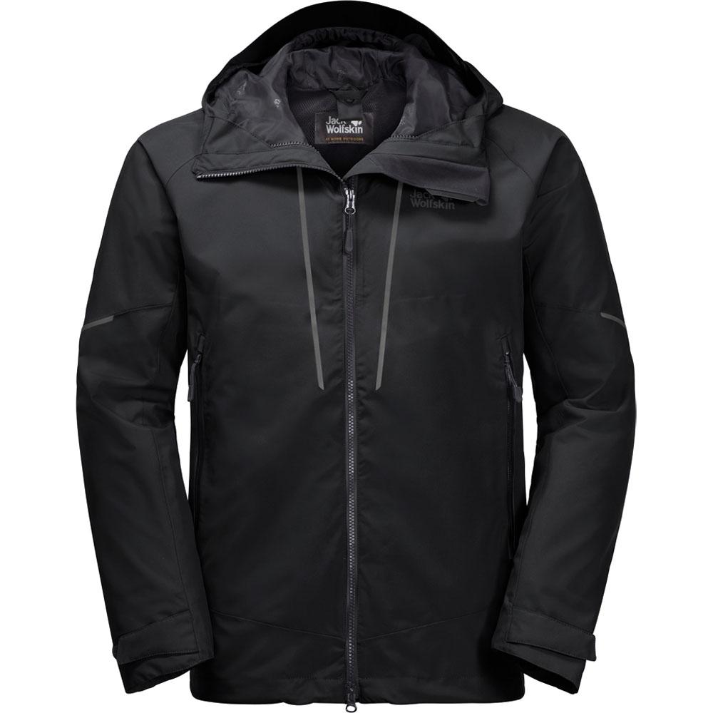 Jack Wolfskin Mens Skei Trail Waterproof Windproof Hooded Jacket Coat  Xl - Bust 43-44 (109-113cm)