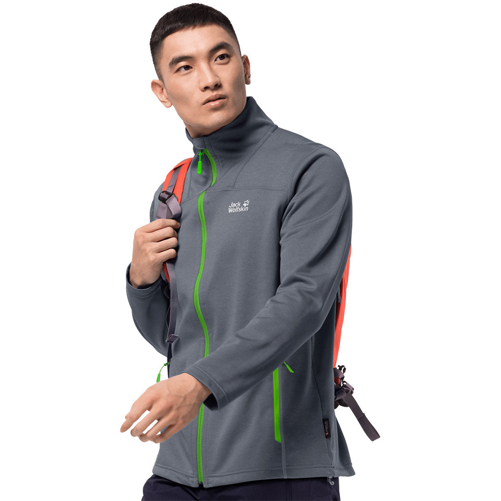 Jack Wolfskin Mens Modesto System Zip Breathable Stretch Fleece Jacket M - Waist 31/32 (80-84cm)