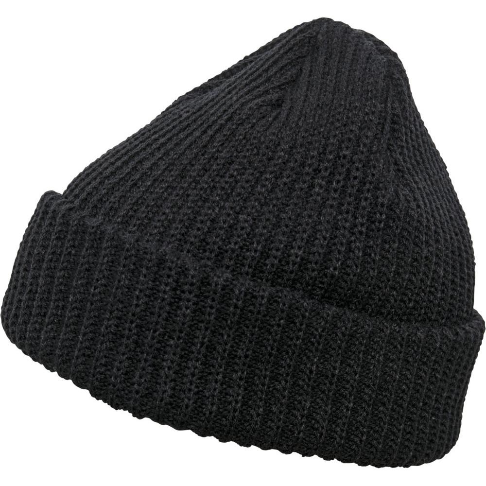 Flexfit By Yupoong Mens Rib Turnup Warm Beanie Hat One Size