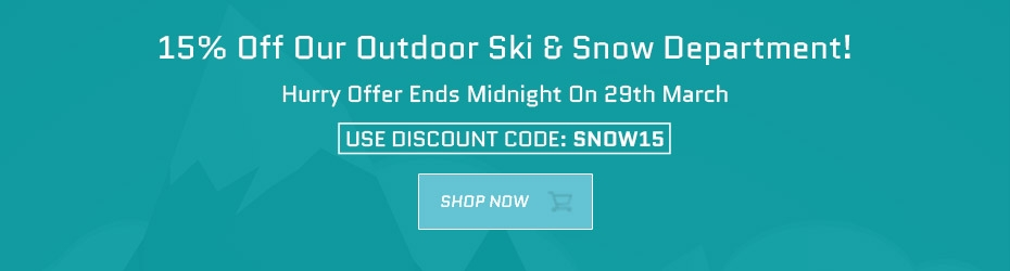 15% Off Outdoor Ski & Snow Department